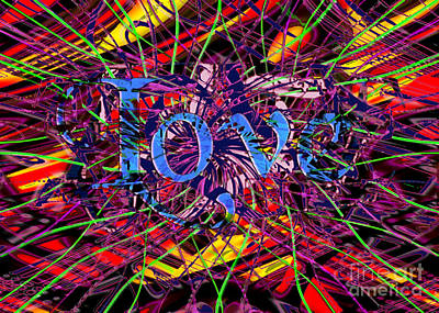 Digital Art - Chaotic Love by Asegia