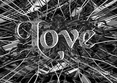 Digital Art - Chaotic Love II by Asegia