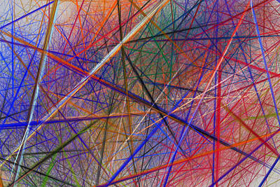 Beam Digital Art - Chaotic Straight Line Fractal Flame Background by Keith Webber Jr