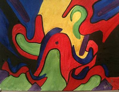 Music Figurative Potraits - Chaotic Thought by Gina Bonelli