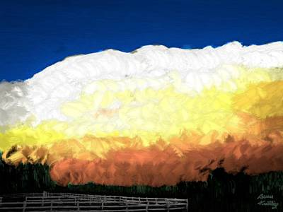 Painting - Chaparra Supercell At Sunset by Bruce Nutting