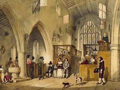 Chapel At Haddon Hall, Derbyshire Print by Joseph Nash