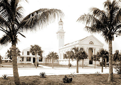 Miami Drawing - Chapel At Hotel Royal Palm I.e by Litz Collection