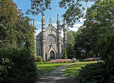 Photograph - Chapel At Mt Auburn Cemetery by Michael Saunders