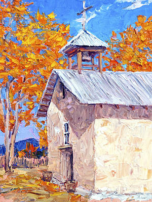 Painting - Chapel At Ojo Claiente by Steven Boone