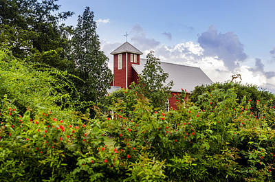 Photograph - Chapel At The Antique Rose Emporium by David Morefield