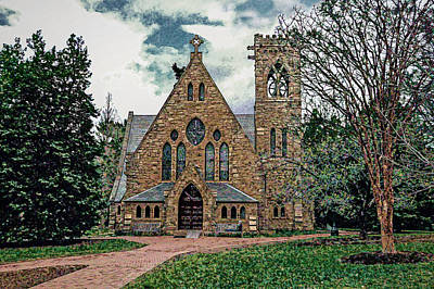 Chapel At University Of Virginia Art Print by Jerry Gammon