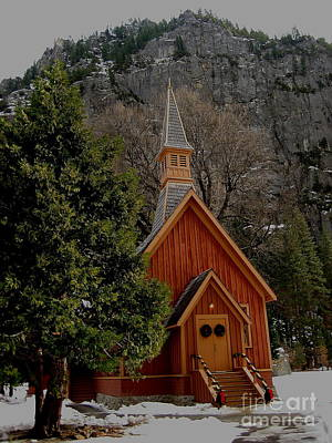 Photograph - Chapel At Yosemite by Theresa Ramos-DuVon