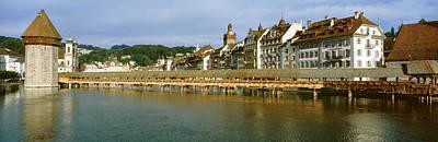 Chapel Bridge, Luzern, Switzerland Art Print