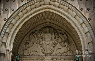 Photograph - Chapel Entrance - Princeton University by Colleen Kammerer