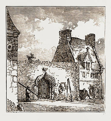 Found Art Drawing - Chapel Founded By Mary Queen Of Scots At Roscoff by Litz Collection