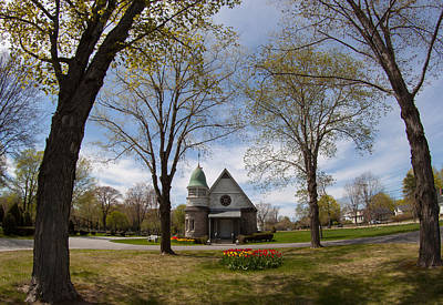 Photograph - Chapel Grounds At Laurel Hill Cemetery by Kirkodd Photography Of New England