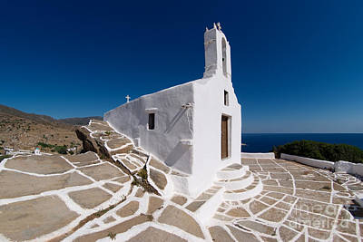 Ios Photograph - Chapel In Ios Island by George Atsametakis
