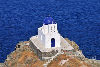Photograph - Chapel In Sifnos Island by George Atsametakis