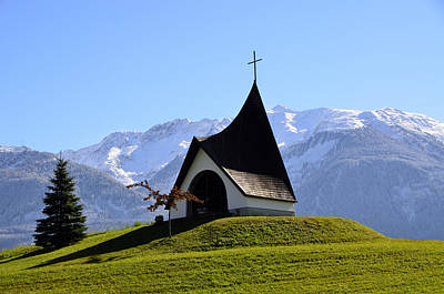 Chapel In The Alps Art Print