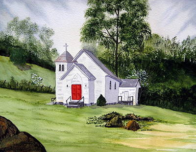 Boone Painting - Chapel In The Mounts by Julia Rietz
