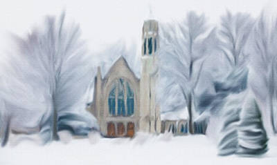 Painting - Chapel In The Snow by Dennis Buckman