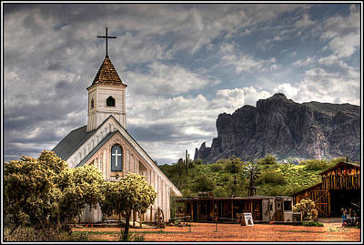 Photograph - Chapel In The Superstition Mountains by Wayne King