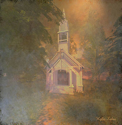 Digital Art - Chapel In The Wood by Kylie Sabra