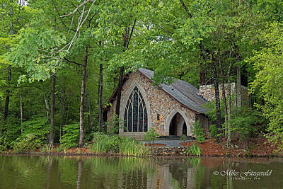 Photograph - Chapel In The Woods by Mike Fitzgerald