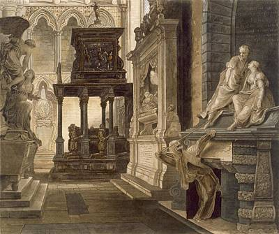 Tomb Drawing - Chapel Of St. John The Evangelist by Frederick Mackenzie