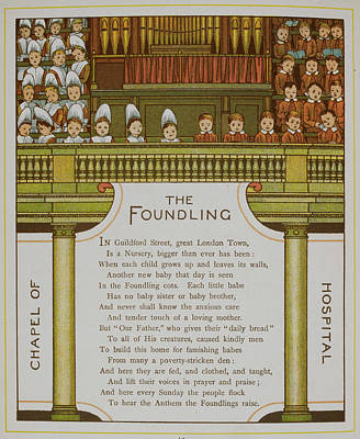 Chapel Of The Foundling Hospital Print by British Library