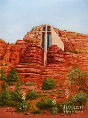 Painting - Chapel Of The Holy Cross by Lora Duguay