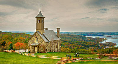 Photograph - Chapel Of The Ozarks by Linda Shannon Morgan