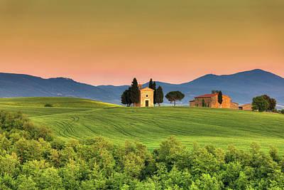 Chapel Of Vitaleta In Tuscany, Val Art Print
