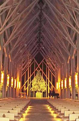 Photograph - Chapel Of Wood And Glass by Cindy Croal