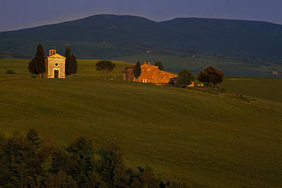 Tuscany Photograph - Chapel On A Hillside by Andrew Soundarajan