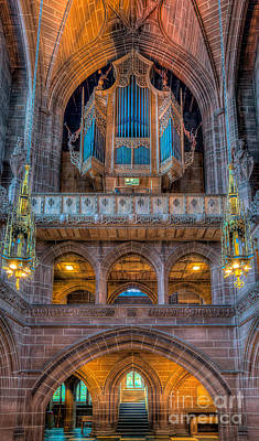 Aisle Photograph - Chapel Organ by Adrian Evans