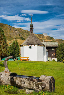 Photograph - Chapel Riederalp West Valais Switzerland by Matthias Hauser