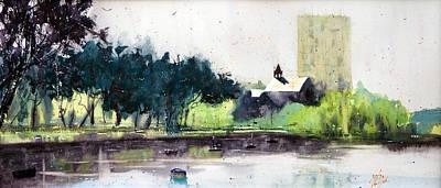 Chapel Saint Christophe Art Print by Andre MEHU