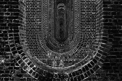 Brick Buildings Photograph - Chapel Viaduct Essex Uk by Martin Newman