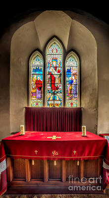 Religious Stain Glass Photograph - Chapel Window by Adrian Evans