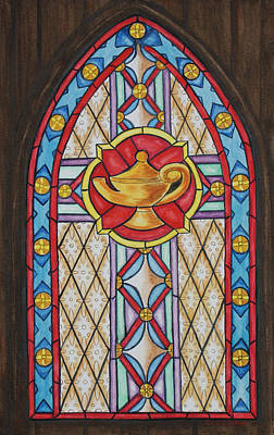 Chapel Window Art Print