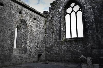 Photograph - Chapel Window Clare Abbey by Nadalyn Larsen