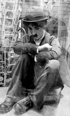 Photograph - Chaplin Black And White by Caroline Stella