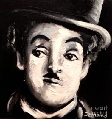 Painting - Chaplin by Karen  Ferrand Carroll