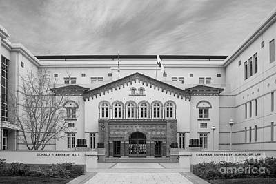 Orange Photograph - Chapman University Kennedy Hall Law School by University Icons