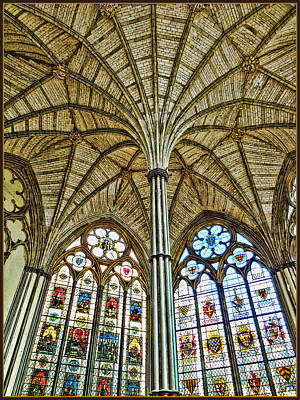 Westminster Abbey Digital Art - Chapter House Ceiling by Rick Lloyd