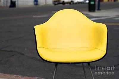 Eames Photograph - Chair In Yellow by Zak Jacobson