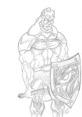 Gargoyle Drawing - Character By Ray by Minding My  Visions by Adri and Ray