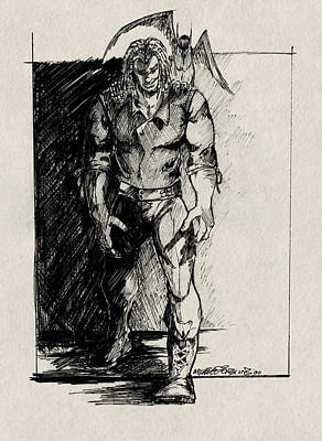 Character Sketch Art Print