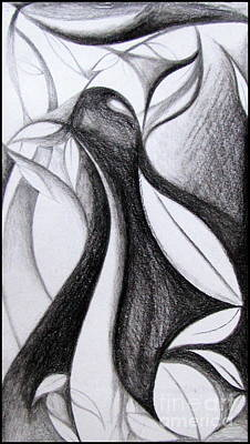 Smear Drawing - Charcoal Art Abstract by Prajakta P