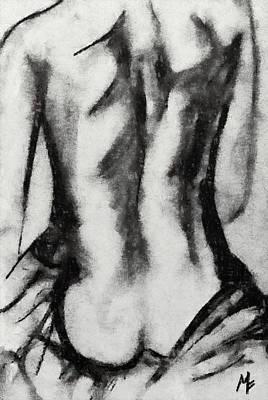 Charcoal Back Art Print by Dragica  Micki Fortuna