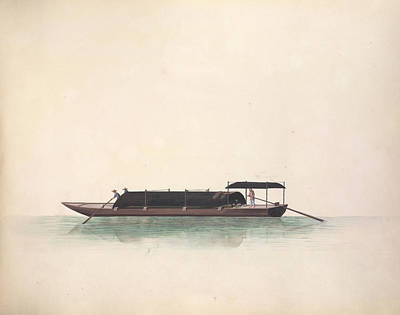 Charcoal Photograph - Charcoal Boat by British Library