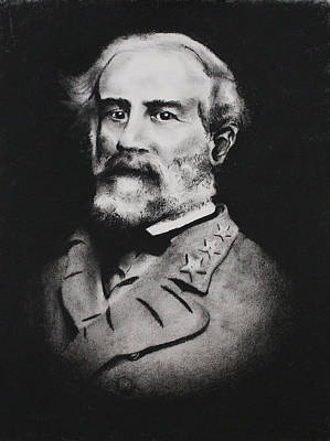Robert E Lee Drawing - Charcoal Portrait Of General Robert E. Lee by Karen Tagstrom