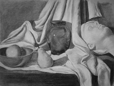 Charcoal Still Life Art Print by Rachel Hames